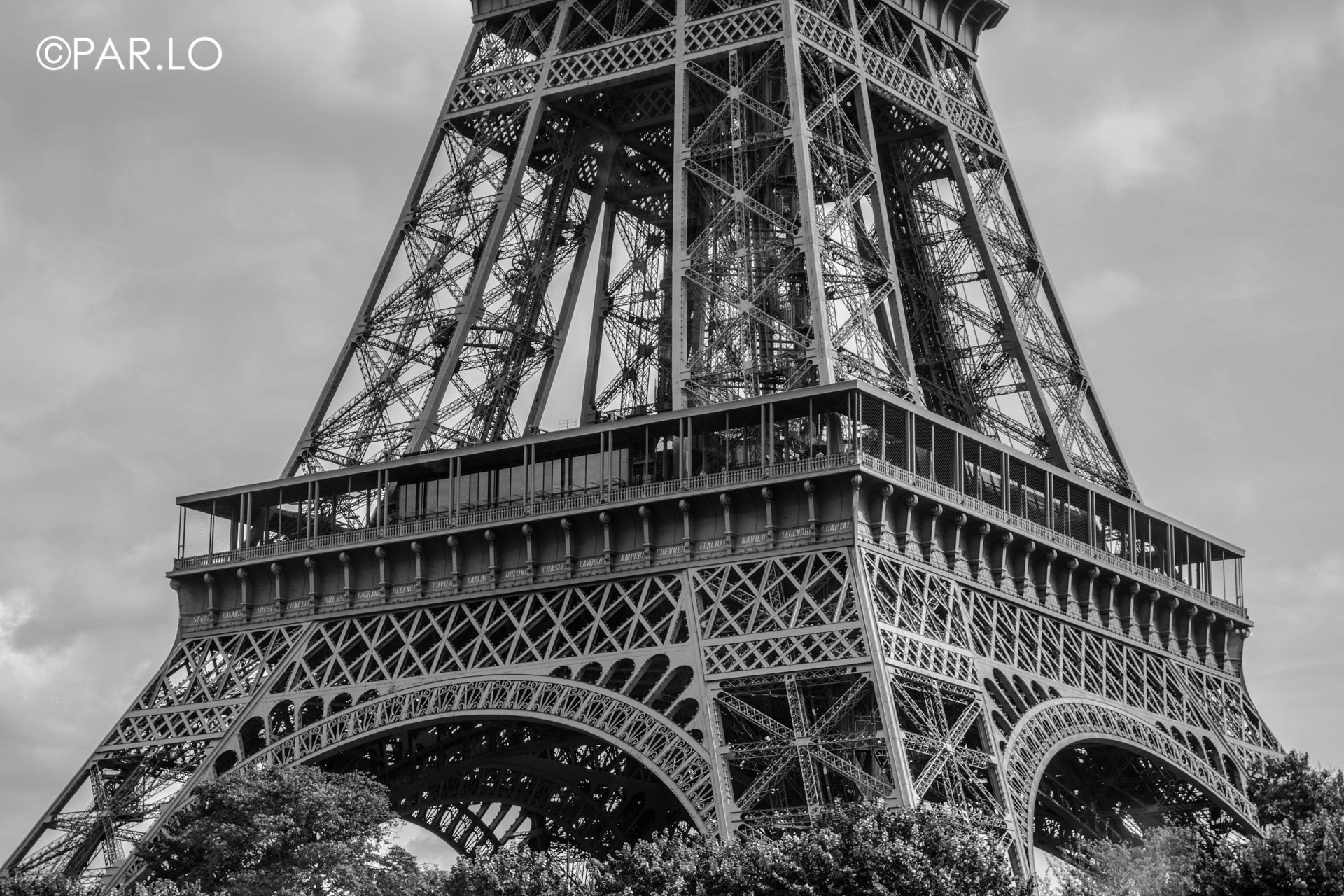 Eiffel Tower Close Up, Paris.