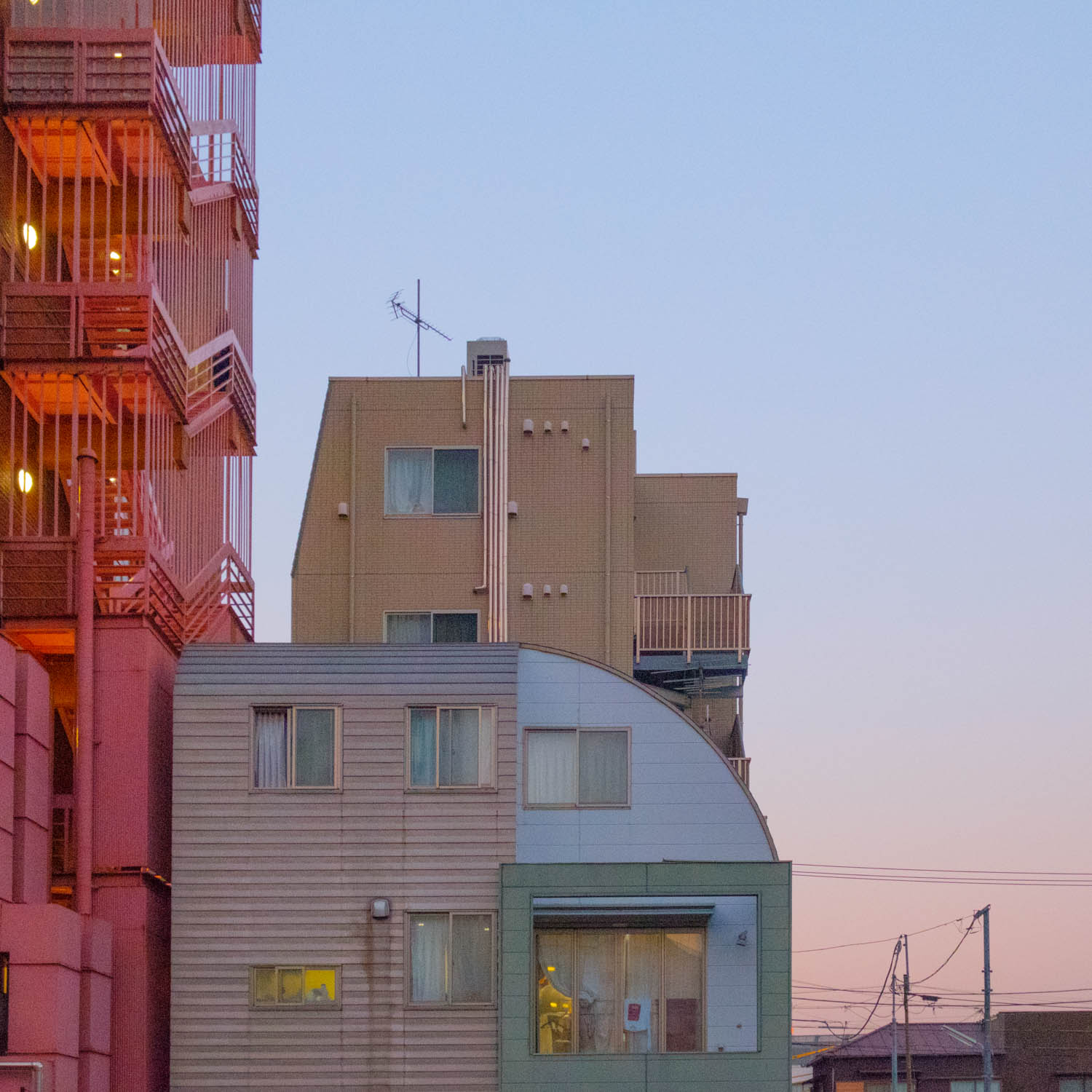 Dusk / The pastel shades of Tokyo city's architecture.
