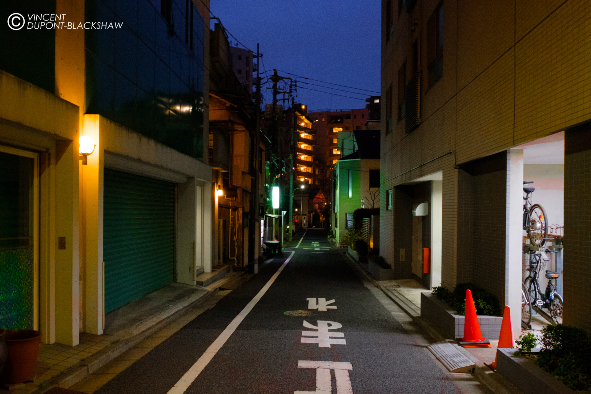 Bicycle Parking /// I shot this photo in Tokyo, in the Takanawa  district.